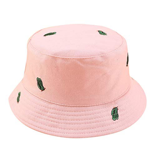 NEARTIME Unisex Fisherman Hat, Cactus Printed Double-Sided Wearing Visor Summer Outdoor Travel Foldable Basin Caps