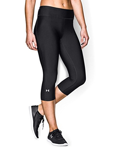 Under Armour Women's HeatGear Armour Capri, Black (001), Medium (Under Armour Capri Pants compare prices)