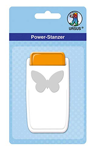 Ursus Power Butterfly Punch Size Approx. 2.5 cm, Suitable for Many Materials Such as Cork, Cardboard, Foam Rubber, foil and Plastic, with Locking Device for Space-Saving Storage.