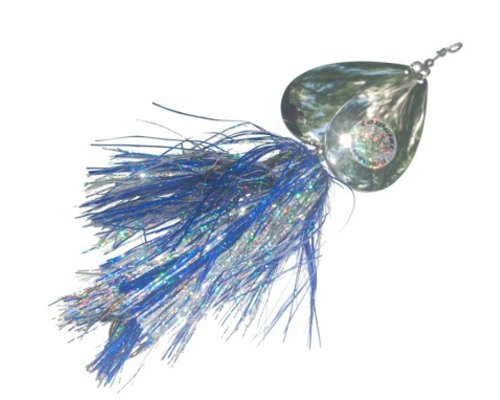 Musky Double Cowgirl Bait, 10-Inch, 2.8-Ounce, Blue/Silver/Nickel