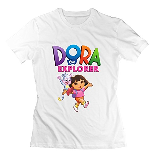 [Seico Lady Dora The Explorer Boots Shirt White Size XXL] (Swiper Costumes For Adults)