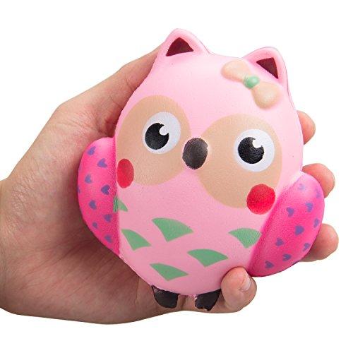 WATINC Random 12 pcs Include(11pcs 4-7cm and 1pcs 13cm) Squishy Cream Scented Slow Rising squishies Charms, Kawaii Toy, Stress Relief Toy Jumbo Medium Mini Soft Food squishies, Phone Straps.