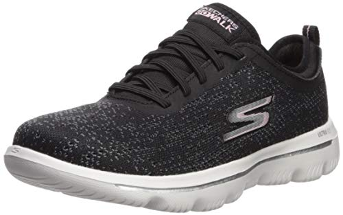 Skechers Women's GO Walk Evolution Ultra-MIRABLE Sneaker, Black/Light Pink, 10 M US