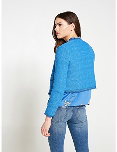 Motivi Corta Giacca Size italian Tweed Blu In rqr7U