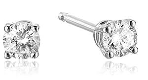 Diamond 14k White Gold Stud Earrings (1/5cttw, I-J Color, I2-I3 Clarity)