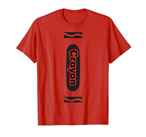 Red Crayon Tshirt Halloween Group Costume Easy DIY Funny -