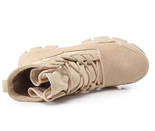 Beige Wild Botines Martens Chelsea Mujer De Help Moda Thick Botas Punta To Liangxie Sencillas Students High Zapatos pwnzagHqxH