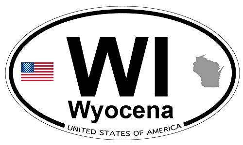 Wyocena, Wisconsin Oval Sticker