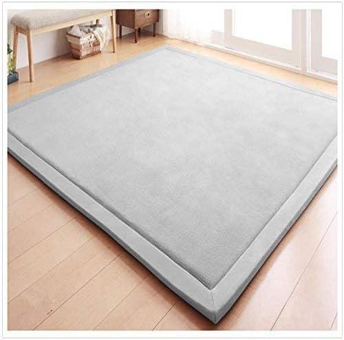 Eanpet Soft Tatami Mat 5' x 7' Area Rug Pad Non-Slip Memory Foam Carpet Large Playmats for Kids Crawling Mat Anti-Skid Doormats Living Room Bedroom Mat Women Gym Mat (Grey)