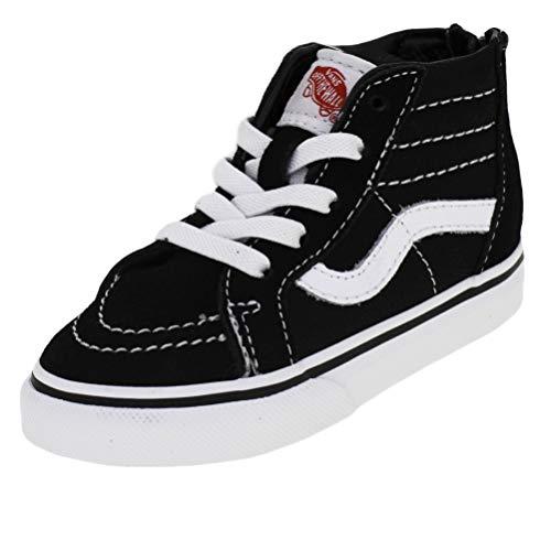 Vans Toddler Sk8-Hi Zip Black White (10.0 -