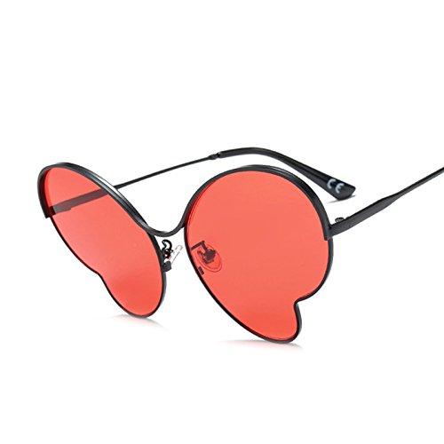 Sombras Uv Sol De Mariposas De Grandes Butterfly Gafas C6 Oro Gafas De Gafas Bastidor Enormes TIANLIANG04 Mujer Unas De Red Señoras De G411 Aleación C4 Azul De Sol Black ZxRUS