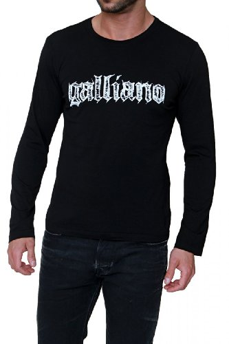 john-galliano-longsleeve-logo-color-black-size-l