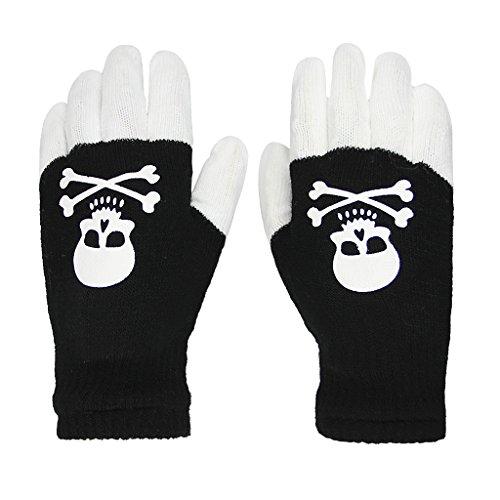 Black Led Light Up Fingerless Gloves in US - 1