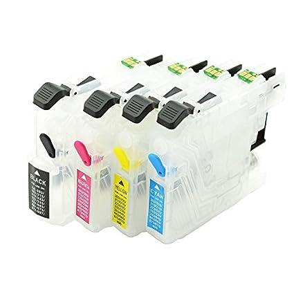 LC-223 vacío cartuchos recargables con auto-reset Chip para Brother Impresoras