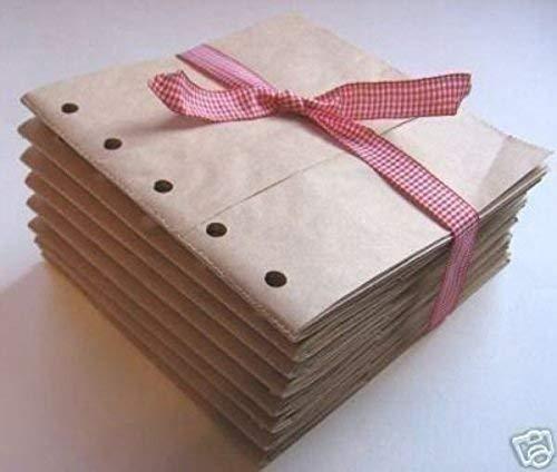 Kraft Brown 6x6 paper bag albums 20 Paper bag Scrapbooks