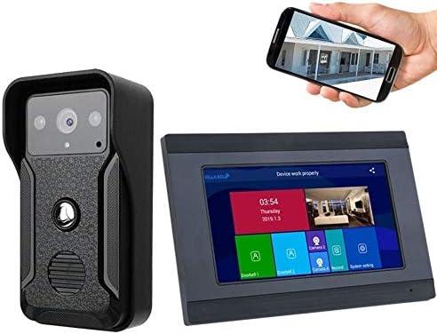 1080P 7インチWIFIスマートインターホン呼び鈴のドアの電話サポートAPPコントロールリモートロック解除 呼び鈴 防水 防塵 ワイヤレスチャイム 玄関チャイム