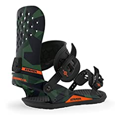 """The Strata is a cross performance wreckingball, featuring a Stage 6 Direct Injected base, that incorporates an """"industry first"""" Fused Vaporlite Bushing System that sets new standards for how a snowboard binding should function and perform.Bas..."""