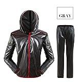 Waterproof Rainwear Sets Cycling Jacket Rain Coat Bike Bicycle Raincoat Pants - dark gray(L)