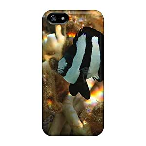 For HTC One M7 Phone Case Cover - Slim Fit PC Protector Shock Absorbent Case (tropical Fish)