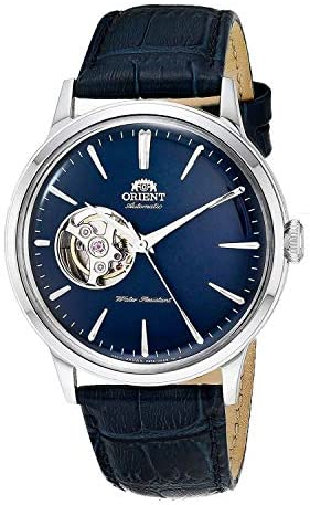 Amazon.com: Orient Men's 'Bambino Open Heart' Japanese Automatic Stainless  Steel and Leather Dress Watch, Color:Blue (Model: RA-AG0005L10A): Watches