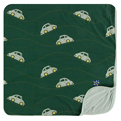 KicKee Pants Little Boys Print Toddler Blanket - Topiary Italian Car, One Size ()