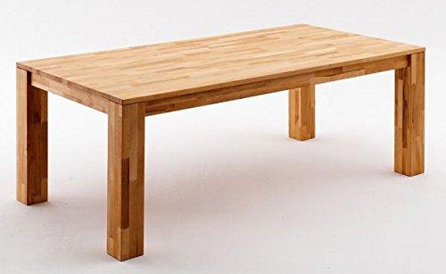 Tisch, Esszimmertisch, Massivholz, Wildeiche, geölt, 160(250) cmx90cm