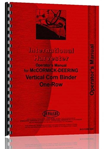 International Harvester Corn Binder Operators Manual