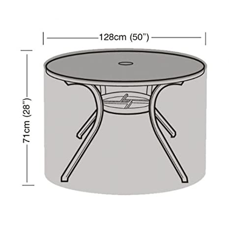 4-6 plazas mesa redonda cubierta de polietileno impermeable jardín ...