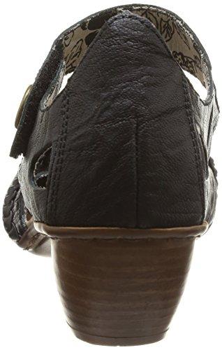 Schwarz 43702 Rieker Absatzschuhe Geschlossene Damen pTRqZR
