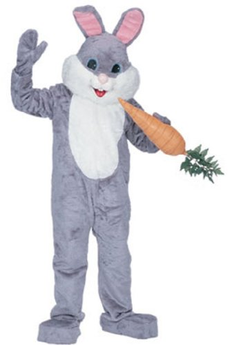 Rubie's Costume Premium Rabbit Mascot Grey, Gray, One Size Costume by Rubie's (Image #1)