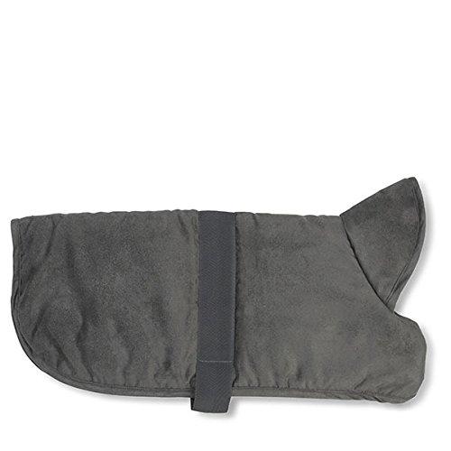 Coat Dog Faux Suede (PetRageous 9403GM Dakota Faux Suede Jacket, Medium, Gray)
