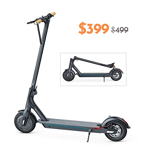 TOMOLOO Electric Scooter, Ultra-Lightweight Folding Electric Scooter for Adults, 18.6 Miles Long-Range Battery Up to 15.4 MPH with Double Braking System and Smart APP Commuting Scooter...
