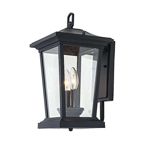LALUZ 2-Light Wall Lamps Outdoor Wall Sconces Exterior Wall Lights - Exterior 2 Light Flush