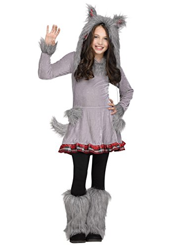 Fun World Big Girl's Wolf Cub Childrens Costume, Standard, Multicolor ()