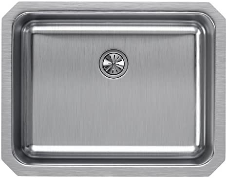 Elkay ELUH2115PD Lustertone Classic Single Bowl Undermount Stainless Steel Sink with Perfect Drain