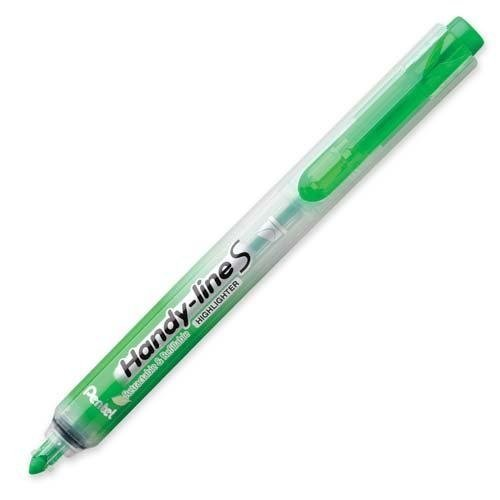 (Pentel Highlighter, Retract, Refillable, Chisel Tip, Lite Green (SXS15-K))