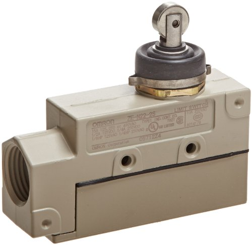 Enclose Switch Purpose General - Omron ZE-N22-2S General Purpose Enclose Switch, High Breaking Capacity and Durability, Sealed Roller Plunger, Single Pole Double Throw AC, Side Mounting, 1/2-14NPSM Conduit Size
