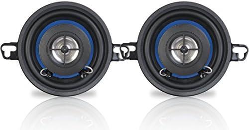 """Peiying PY 3510C 2 Wege Coax Auto-Lautsprecher - 3,2"""" 60 W - 2 Stück, schwarz blau"""