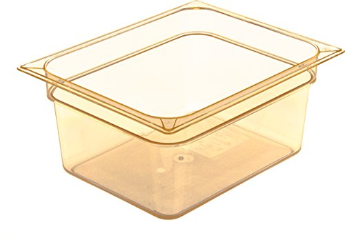 Carlisle 10422B13 High Heat One-Half Size Food Pan, 8.7-quart Capacity, 6'' x 10.38'' x 12.75'', Amber (Case of 6) by Carlisle