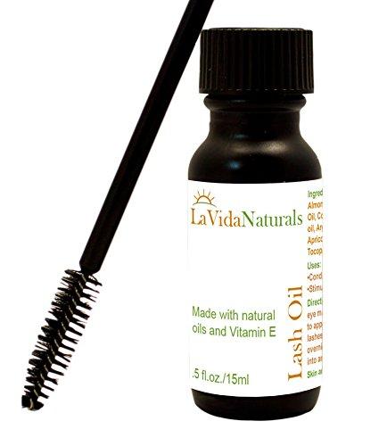 La Vida Lash Oil Eyelash & Eyebrow Rapid Growth Product Serum Enhancer 100% Natural Oil -15ml Brow Extender