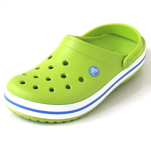 Crocs Crocband,Volt Green/Varsity Blue,US 10 M by CROCS