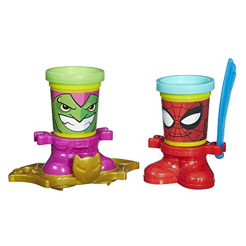 Play-Doh Marvel Can-Heads Featuring Spider-Man and Green - Dough Spiderman Play
