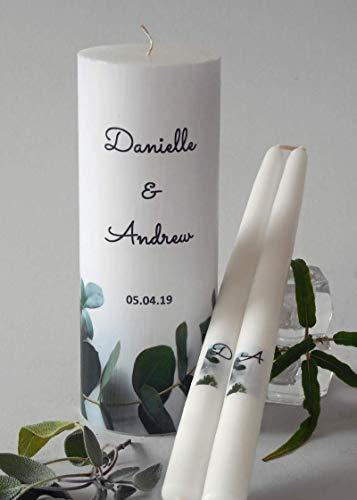 Eucalyptus Wedding Unity Candles