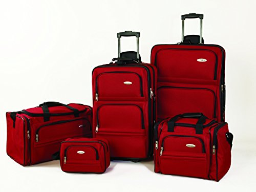 Samsonite 5 Piece Nested Luggage Set, Red by Samsonite