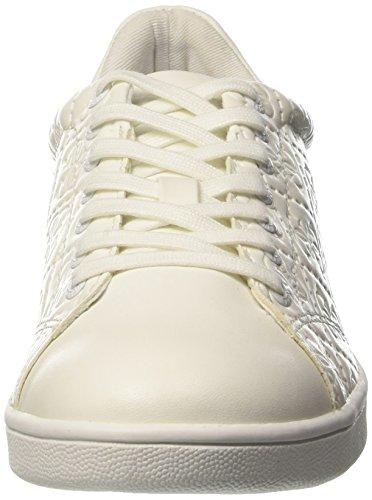 GUESS Super, Zapatillas de Tenis para Mujer Bianco