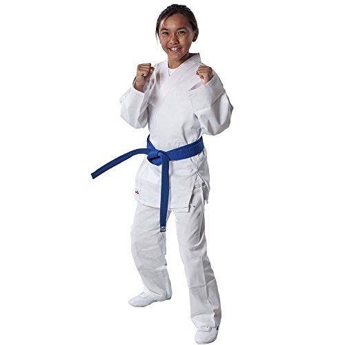 Tiger Claw 7.5 oz White Student Karate Uniform (White, Size 2 (5'2