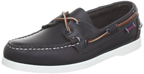 (Sebago Mens Docksides Wine Dark Red Leather Casual Boat Shoes, 6.5 W)