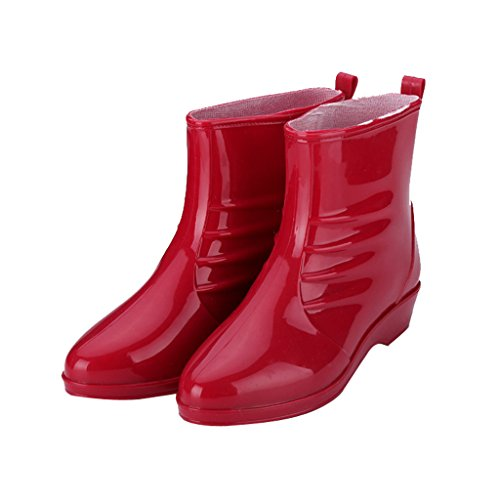Dear Time Women Pointed Toe Mid Calf Rain Boots US 5.5 bYEPBzKEf