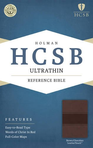 HCSB Ultrathin Reference Bible, Brown/Chocolate LeatherTouch pdf epub