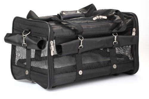 - Sherpa on Wheels Pet Carrier, Large, Black